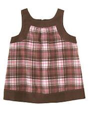 Gymboree Sweeter Than Chocolate  Girls Pink Plaid Swing Top Tunic Shirt Size 6