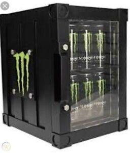 Monster Energy Drink Thermo Fridge Refrigerator Mini Fridge RARE COLLECTIBLE!