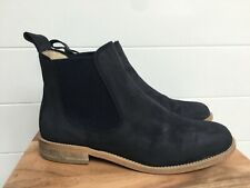 GIRLS/LADIES NAVY LEATHER RUSSELL & BROMLEY CHELSEA BOOTS, UK 5/38