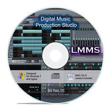 LMMS, Pro Music Multi Track Editing Mixing Software DAW, Win/Mac/Linux CD I07