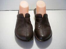 Born Women's Brown Leather Wedge Heel Split Toe Mules Size 9 M/W Us