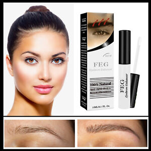 ✅ FEG Organic 3ml Eyebrow Enhancer Growth Serum 100% Natural Liquid Oil ✅