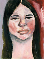 Oil Painting Original OOAK Oil Portrait Painting Woman Katie Jeanne Wood