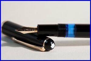Montblanc 342 Füller mit OBB 14C GOLD Feder weich & flexibel / Kolbenfüller