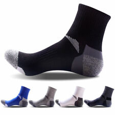5 Pairs Men's Sport Socks Ankle Crew Quarter Combed Socks Warm Socks One size