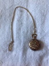 TRAIN POCKET WATCH WITH CHAIN