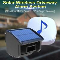 1/4 Mile Long Range Solar Driveway Alarm System Motion Sensor Detector Outdoor