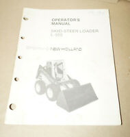 Sperry New Holland Skid-Steer Loader L-555 Operator's Manual P/N 42055512