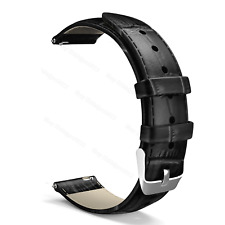 Quick Release Leather Watch Band Wrist Strap 22mm For Fossil Q Founder Gen 1 / 2