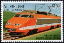 SNCF Train à Grande Vitesse (High Speed Train) TGV Paris-Lyons Train Stamp #3