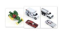 "NEW ERTL 1:64 Corvette, Chevelle, John Deere Tractor & 4"" Ambulance, Haul Truck"
