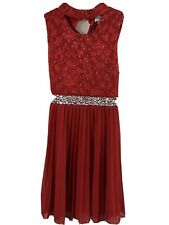 Speechless Girls Kids Red Halter Maxi Dress Summer Size 8