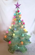 "17"" Vintage New Atlantic 64 - Ceramic Christmas Tree - Multi-Color  Berry Bulbs"
