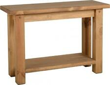 Tortilla Solid Pine Console Table in Distressed Waxed Pine