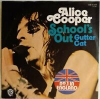 ALICE COOPER ⚠️Unplayed⚠️ 1973-7-School's out/Gutter Cat-WB 16188-Germany