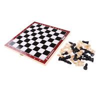 Jeu de jeu d'échec d'échecs international pliable en bois 21.2x21.2cm