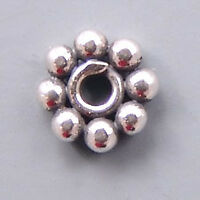 Bali Sterling Silver Daisy Beads B144 (10) Flat 6mm Rondelle Spacers
