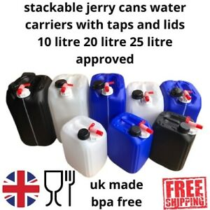 jerry can water carriers with taps 25 litre 20 litre and 10 litre new approved