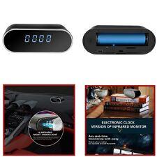 Reloj Despertador Oculta Espía Hd 1080P WIFI Cámara IP Car & Home DVR de detección de movimiento