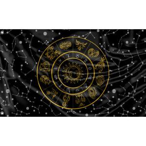 Zodiac Signs Flagge/Fahne Unikales Design 90x150cm