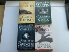 4 X GAME OF THRONES BOOKS BY GEORGE RR MARTIN PAPERBACK VGC