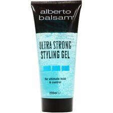 ** 2 X ALBERTO BALSAM ULTRA STRONG STYLING  HAIR GEL 200ml ** NEW