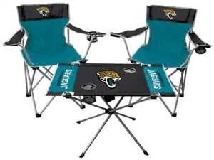 Jacksonville Jaguars  3 Piece Tailgate Kit - 2 Chairs - 1 Table