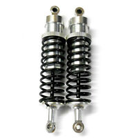 RC Car Buggy Alloy Shock Absorbers 1/5 Scale 130mm Silver Black Spring 2 No Oil