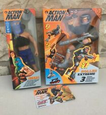 Lot 2 Figurines Action Man / Action Joe - Roller Extreme + Ninja - Hasbro 1994