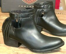 Harley-Davidson Women Size 7 1/2 M  Black Western Style Ankle Boots D84417 Amory