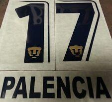 Pumas UNAM Mexico Paco Palencia #17 Authentic Name Set Font Soccer Jersey Futbol