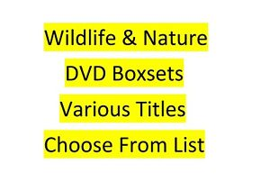 Wildlife & Nature DVDs & Boxsets Choose From List