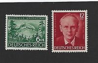 MNH Stamp set / Peter Rosegger (Poet)  / 1943 Third Reich Issues / WWII Germany