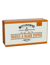 Scottish Fine Soaps Mens Thistle & Black Pepper Bath Body Wash Soap Bar 220g