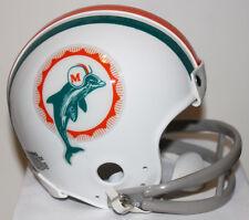 1972 Miami Dolphins Paul Warfield Custom Riddell Mini Helmet with 2 Bar Facemask