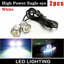 New 2 pcs 9W LED Eagle Eye DRL Car Silver Lamps Parking Fog Running Lights