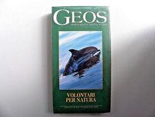 """VIDEOCASSETTA VHS  GEOS """" VOLONTARI PER NATURA""""  ED. ECOS 1994  SIGILLATO"""