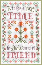 Mini Friends Sampler - Cross Stitch Kit on 14 ivory aida great for beginners