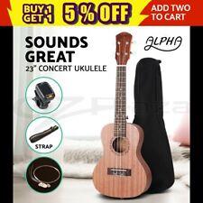 """ALPHA 23"""" Concert Ukulele Mahogany Ukelele Uke Hawaii Guitar Carry Bag Tuner"""