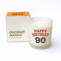 Nuovo - Happy Birthday 90 - Cocco Mango Candela Profumata Cera di Soia - Regalo
