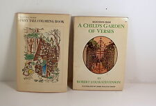2 Books - Fairy Tale Coloring Book & Selections From A Child's Garden Of Verses