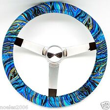 Handmade Steering Wheel Cover Palazzo Blue