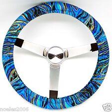 Handmade Steering Wheel Cover Palazzo Blue