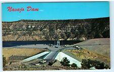 Navajo Dam New Mexico NM Vintage old classic cars Postcard B51