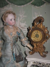 SPECIAL SALE! HTF ANTIQUE ORNATE MINIATURE MANTEL CLOCK FOR FRENCH FASHION DOLL