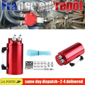 Noir Aluminium Voiture Réservoir Récupérateur d'huile Oil Catch Tank Can FR