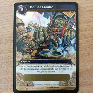 WOW Loot Card - Don de Landro - Unscratched / Parfait Etat