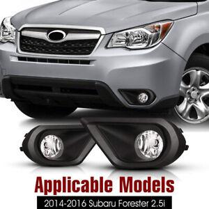 2Pcs Front Grills Bumper Driving Halogen Lamp Fog Lights For Subaru Forester