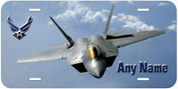 Air Force Personalized Any Name Novelty Car License Plate F-22 Raptors P04