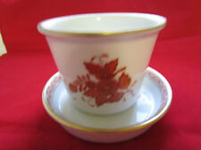 Herend orange or rusty  Chinese Bouquet Flower Pot With Matching Underplate